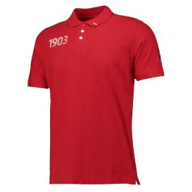 Atlético de Madrid Crest Polo Shirt - Red - Mens