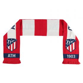 Atlético de Madrid Reversible Bar Scarf - Red/White