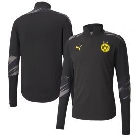 Borussia Dortmund Stadium 1/4 Zip Top - Black - Kids (Home)