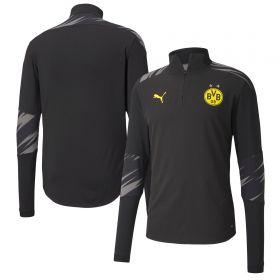 Borussia Dortmund Stadium 1/4 Zip Top - Black - Kids (Home)