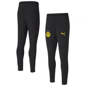 Borussia Dortmund Training Pants - Black (W/ Zip Pockets)