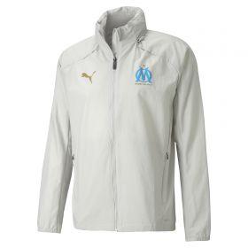 Olympique de Marseille Rain Jacket - Grey