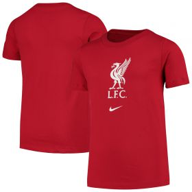 Liverpool Crest T-Shirt - Red - Boys