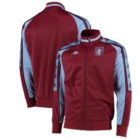 Aston Villa Kappa Fleece Track Jacket - Claret - Mens