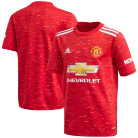 Manchester United Home Shirt 2020-21 - Kids with Pogba 6 printing
