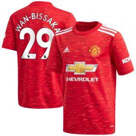 Manchester United Home Shirt 2020-21 - Kids with Wan-Bissaka 29 printing