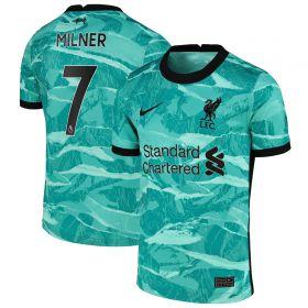 Liverpool Away Stadium Shirt 2020-21 - Kids with Milner 7 printing