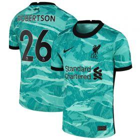 Liverpool Away Stadium Shirt 2020-21 - Kids with Robertson 26 printing