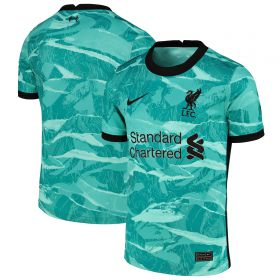 Liverpool Away Stadium Shirt 2020-21 - Kids with Wijnaldum 5 printing