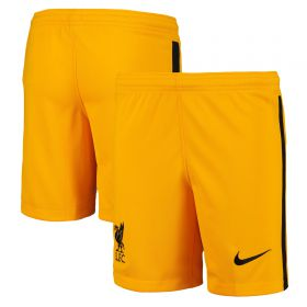 Liverpool Goalkeeper Stadium Shorts 2020-21 - Kids