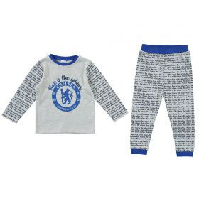 Chelsea Blue Is The Colour PJ Set - Grey Marl - Baby