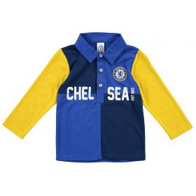 Chelsea Colour Block Relaxed Shirt - Blue - Baby