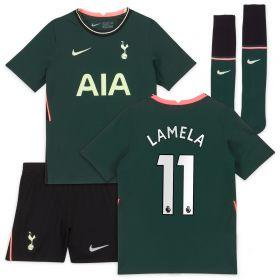 Tottenham Hotspur Away Stadium Kit 2020-21 - Little Kids with Lamela 11 printing