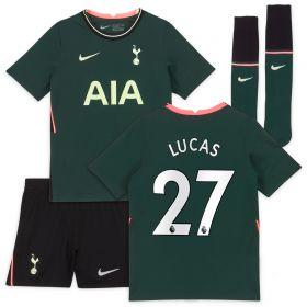 Tottenham Hotspur Away Stadium Kit 2020-21 - Little Kids with Lucas 27 printing