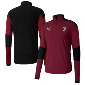 AC Milan Training 1/4 Zip Top - Burgundy