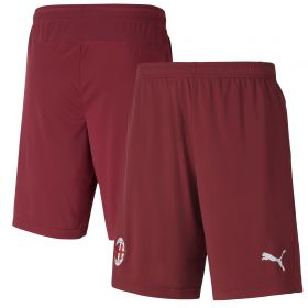 AC Milan Training Shorts - Burgundy - zip pockets