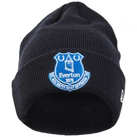 Everton New Era Core Crest Cuff Knit Beanie - Navy - Junior
