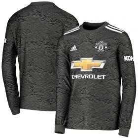 Manchester United Away Shirt 2020-21 - Long Sleeve - Kids