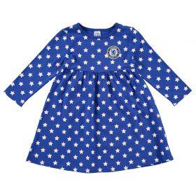 Chelsea Star Dress - Blue/White - Baby