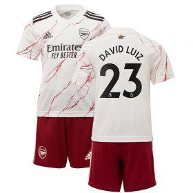 Arsenal Away Mini Kit 2020-21 with David Luiz 23 printing