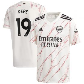 Arsenal Away Shirt 2020-21 - Kids with Pepe 19 printing