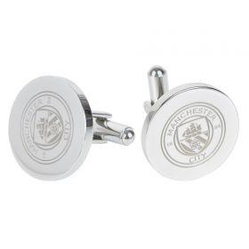 Manchester City Round Crest Cufflinks - Stainless Steel