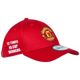 Manchester United New Era FA Cup Winners Basic 9FORTY Adjustable Cap - Red - Adult