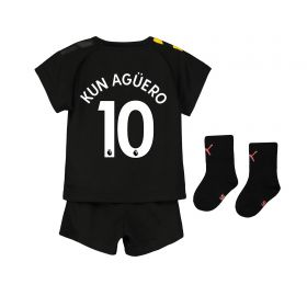 Manchester City Away Baby Kit 2019-20 with Kun Agüero 10 printing