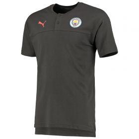 Manchester City Casuals Polo - Asphalt - Kids