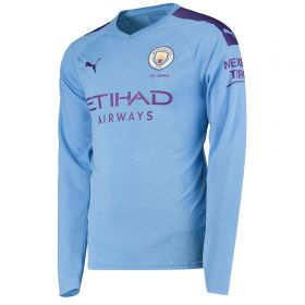 Manchester City Home Shirt 2019-20 - Long Sleeve with Champions 19 printing