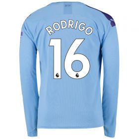 Manchester City Home Shirt 2019-20 - Long Sleeve with Rodrigo 16 printing