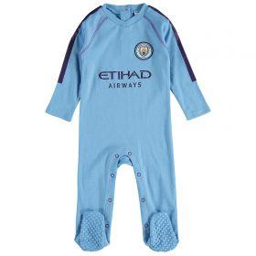 Manchester City Kit Sleepsuit - Sky Blue - Baby