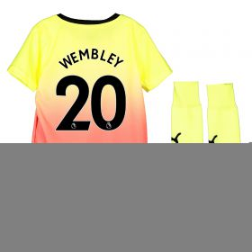 Manchester City Third Mini Kit 2019-20 with Wembley 20 printing