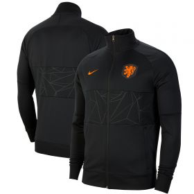 Netherlands l96 Anthem Track Jacket - Black