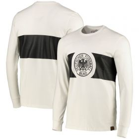 DFB True Classics 1912 Retro Home LS Shirt - White - Mens