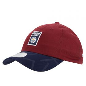 Manchester City Archive DNA Cap - Burgundy
