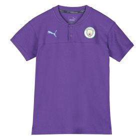 Manchester City Casuals Polo - Purple - Kids