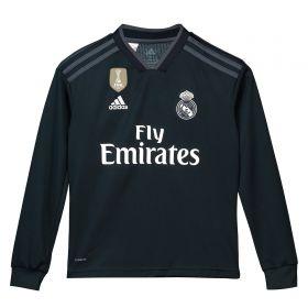 Real Madrid Away Shirt 2018-19 - Long Sleeve - Kids with Brahim 21 printing