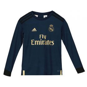 Real Madrid Away Shirt 2019 - 20 - Kids - Long Sleeve with James 16 printing