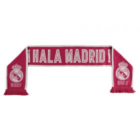 Real Madrid Double Knitted Scarf - Fuchsia - Adult