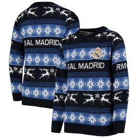 Real Madrid Fairisle Christmas Jumper - Junior