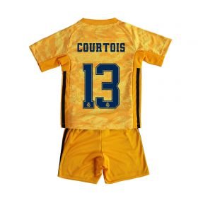 Real Madrid Home GK Mini Kit 2019 - 20 with Courtois 13 printing