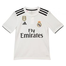 Real Madrid Home Shirt 2018-19 - Kids with Vinicius JR. 28 printing
