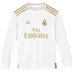 Real Madrid Home Shirt 2019-20 - Long Sleeve - Kids with James 16 printing