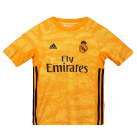 Real Madrid Real Madrid Home GK Shirt 2019 - 20 - Kids with Areola 1 printing