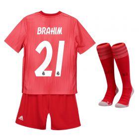 Real Madrid Third Kids Kit 2018-19 with Brahim 21 printing