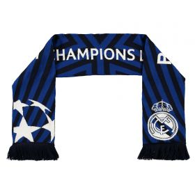 Real Madrid UEFA Champions League Jaquard Scarf - Adult