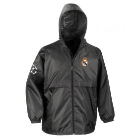 Real Madrid UEFA Champions League Windbreaker Jacket - Black - Mens