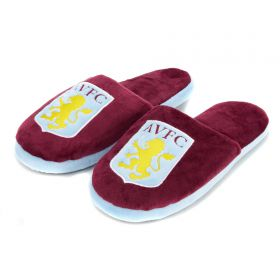 Aston Villa Split Colou Slide Slipper - Claret - Mens