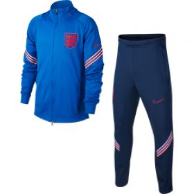 England Dri-Fit Strike Track Suit - Royal Blue - Kids